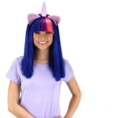Elope My Little Pony Twilight Sparkle Adult Costume Wig W/Ears & Horn