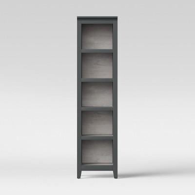72  Carson Narrow Bookcase Gray - Threshold™