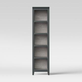 72u0022 Carson Narrow Bookcase Gray - Threshold™