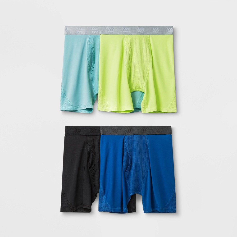 Image of Boys' 4pk Mesh Boxer Briefs - All in Motion Blue L, Boy's, Size: Large, Red
