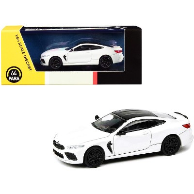 BMW M8 Coupe Alpine White with Black Top 1/64 Diecast Model Car by Paragon