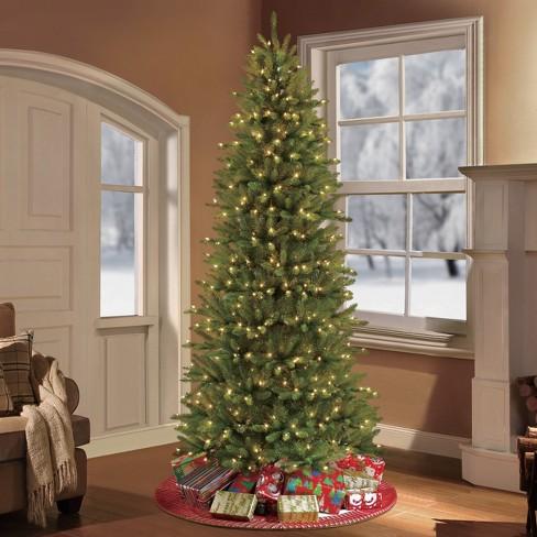 - 10ft Prelit Artificial Christmas Tree Forest Fir -... : Target