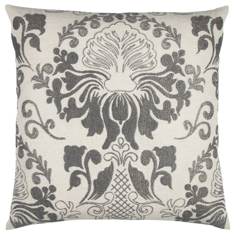 Throw Pillow Rizzy Home Gray Natural