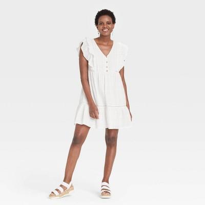 Women's Flutter Short Sleeve Dress - Knox Rose™