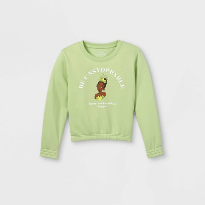 Girls' Disney Tiana Pullover Sweatshirt - Green