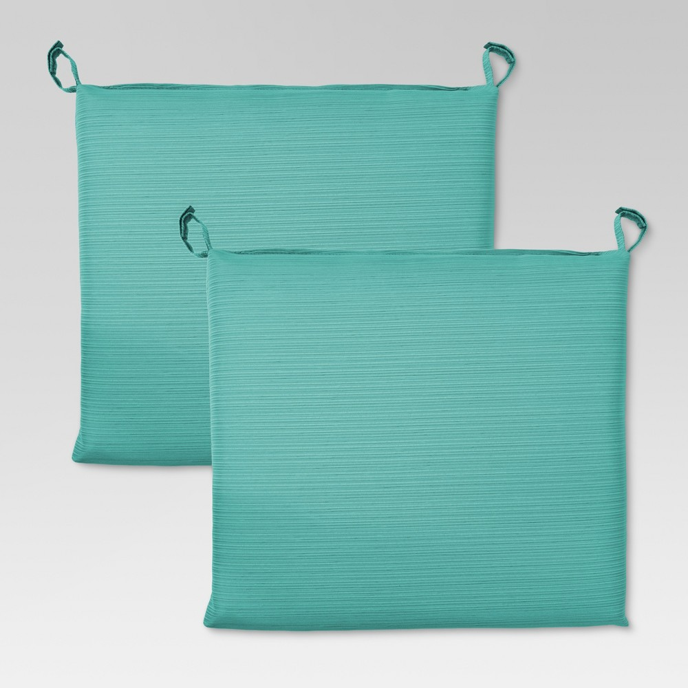 Harper 2pk Outdoor Stationary Dining Chair Cushion - Turquoise - Threshold