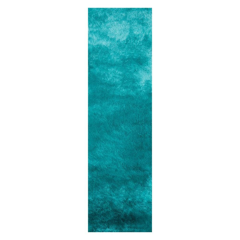 2'3X8' Solid Tufted Runner Teal (Blue) - Momeni