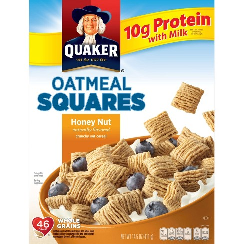 Oatmeal Squares Honey Nut Breakfast Cereal - 14.5oz - Quaker Oats - image 1 of 4