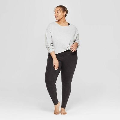 0b2bc7734da Women s Plus Size Cropped Crewneck Lounge Sweatshirt - Colsie™ Gray   Target