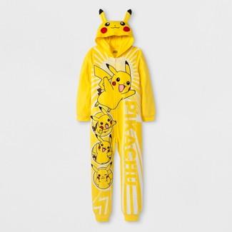 Boys' Pokemon Pikachu Union Suit - Yellow XS