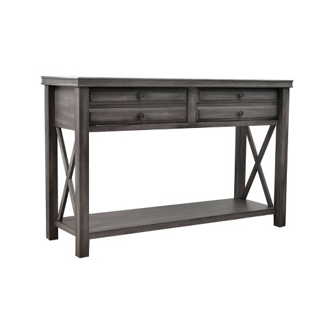 Felicity Wood Console Table Gray - Abbyson Living - image 1 of 4