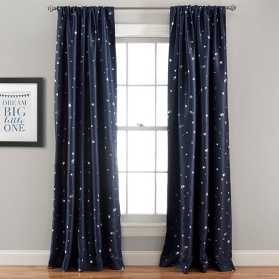 "95""x52"" Set of 2 Star Blackout Window Curtain Panels - Lush Décor"
