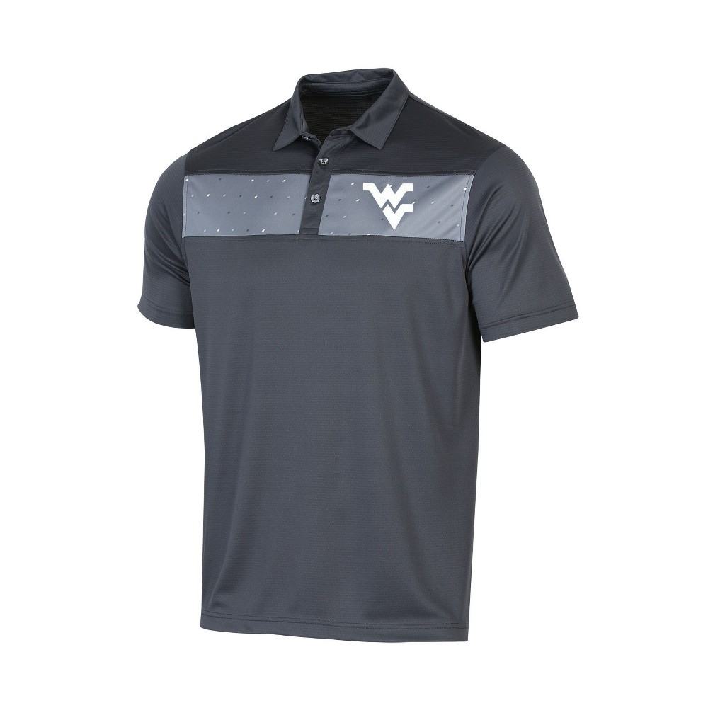 NCAA Men's Short Sleeve Polo Shirt West Virginia Mountaineers - XL, Multicolored