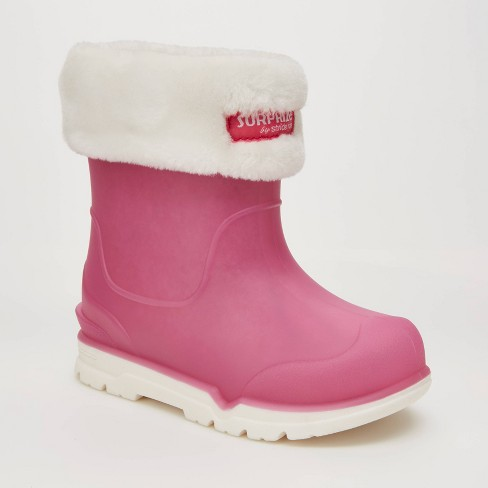 Toddler Girls' Surprize by Stride Rite Conquer Slip-On Rain Boots - Pink - image 1 of 4