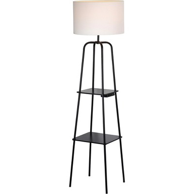 Etagere Power Source Shelf Floor Lamp Black - Threshold™