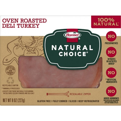 Hormel Natural Choice Sliced Oven Roasted Deli Turkey - 8oz - image 1 of 4
