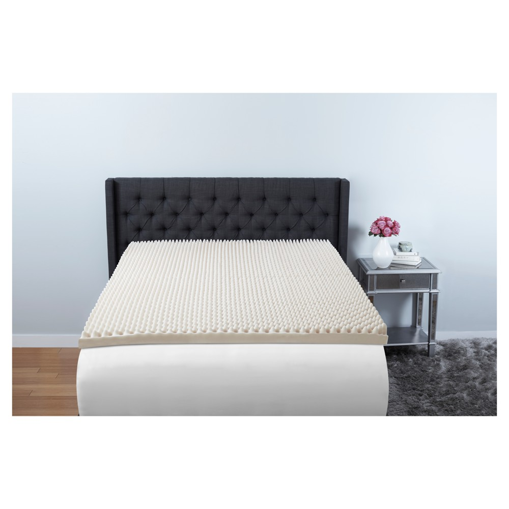 Image of 3 Convoluted Foam Mattress Topper Full - Beauty Rest, White
