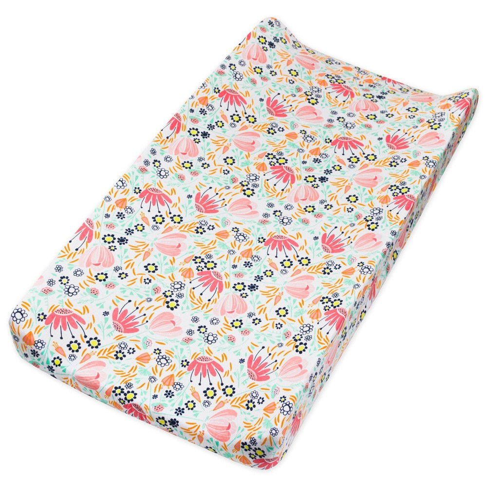 Honest Baby Organic Cotton Changing Pad Cover Flower Power