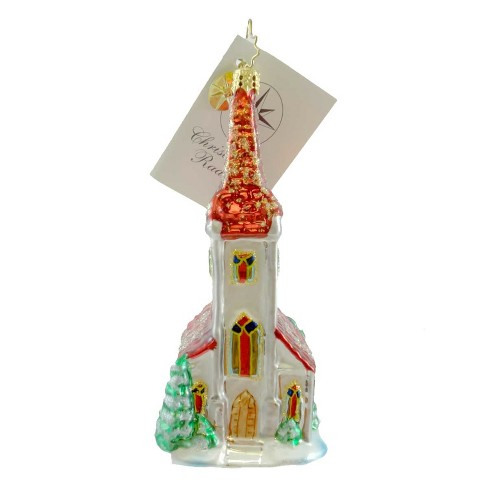 Christopher Radko Blessed Tidings Ornament Church Steeple - image 1 of 2