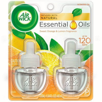 Air Wick Scented Oil Pure Sparkling Citrus Air Freshener Refill - 0.67oz/2ct