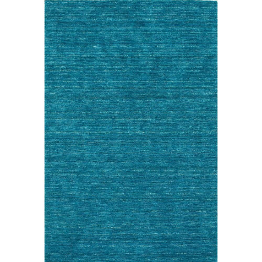 5 X7 6 Tonal Solid 100 Wool Area Rug Cobalt Addison Rugs