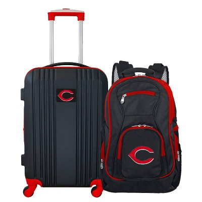 MLB Cincinnati Reds 2 Pc Carry On Luggage Set