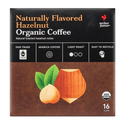 Toasted Hazelnut Light Roast Coffee - Single Serve Pods - 16ct - Archer Farms™ - image 1 of 3
