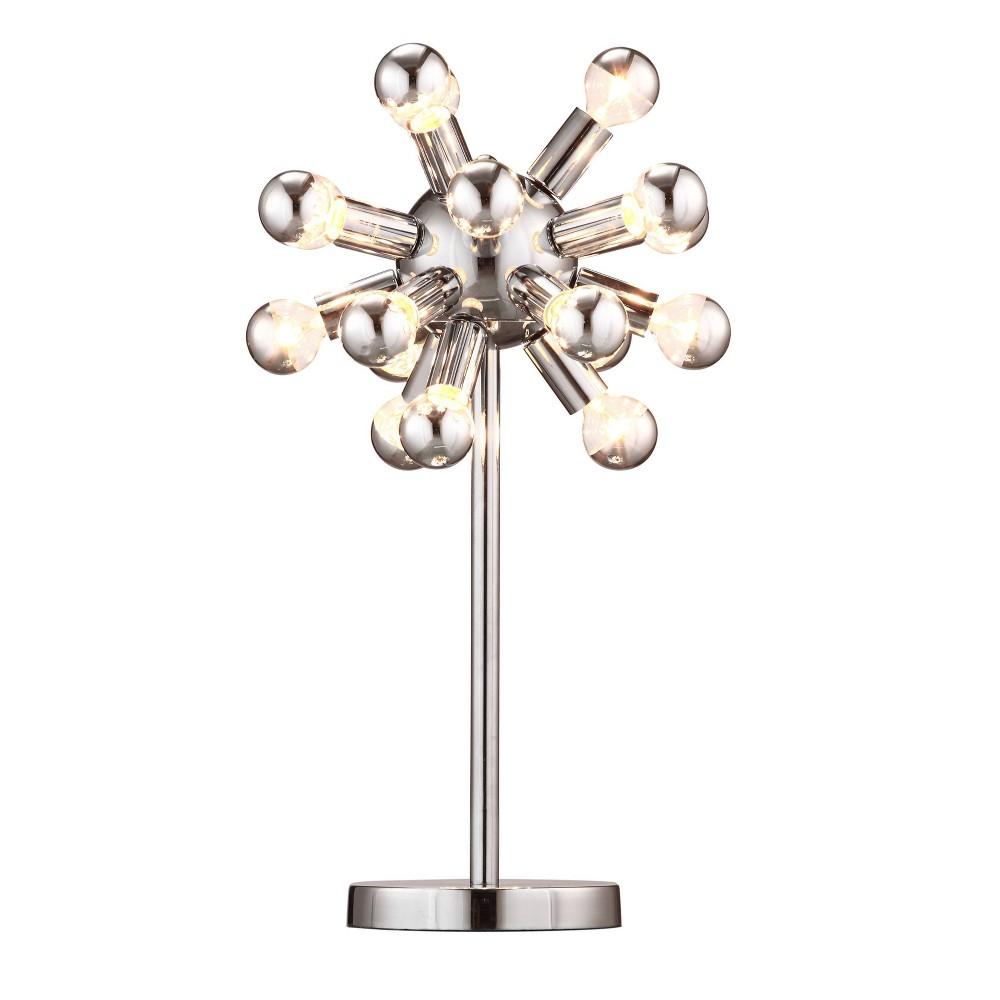 Mid Century Modern Chrome Table Lamp Includes Light Bulb Zm Home
