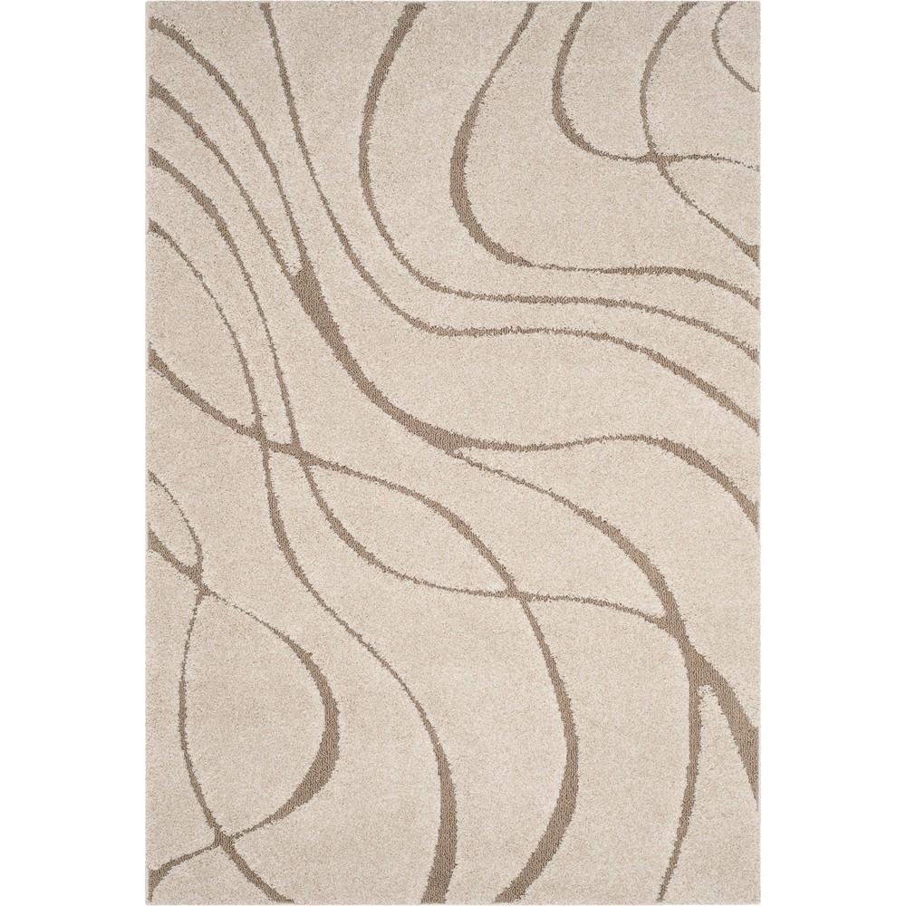 9'6X13' Wave Loomed Area Rug Cream (Ivory) - Safavieh