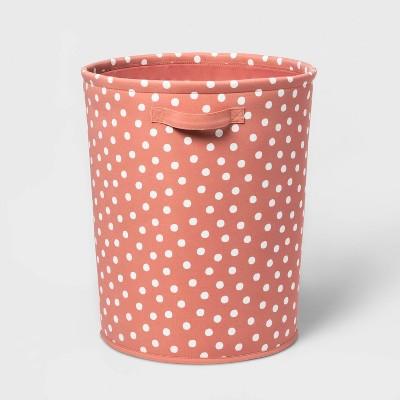 Floor Canvas Dot Bin Rose Pink - Pillowfort™