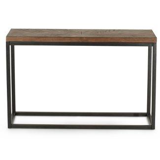 Aleka Modern Sofa Table Dark Oak - Steve Silver