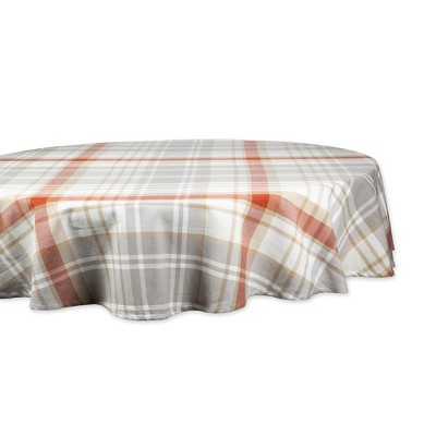 "70"" Cozy Picnic Plaid Round Tablecloth - Design Imports"