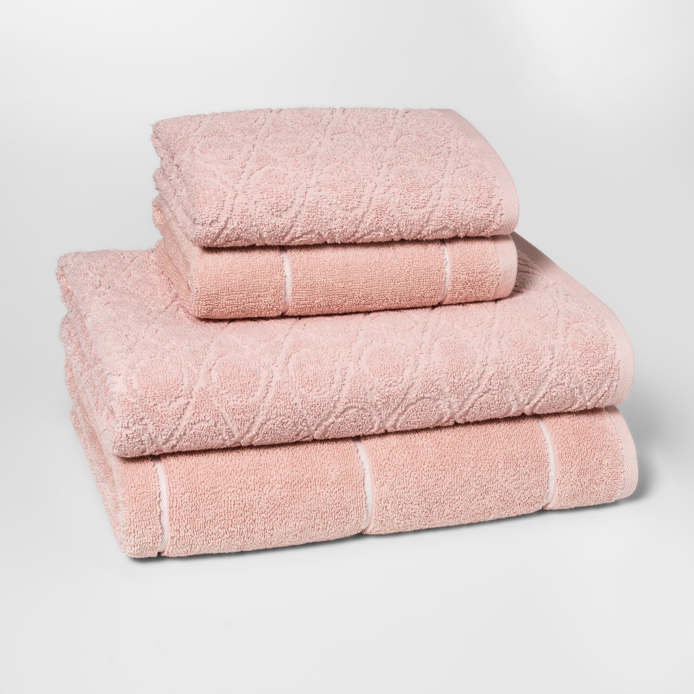 Woven Pattern Bath Towel Set Peach - Project 62™ - image 1 of 2