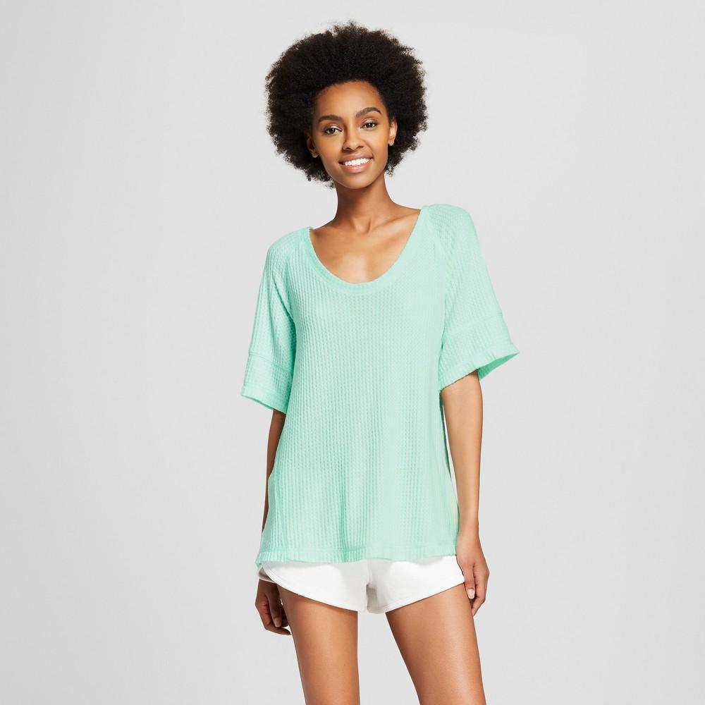 Women's Super Soft Thermal T-Shirt - Xhilaration Aqua (Blue) Float L