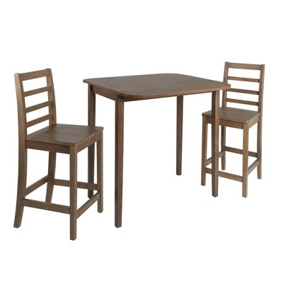 Table and 2 Chairs Dining Set Brown - Silverwood