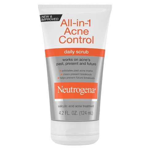 Neutrogena® All-In-1 Acne Control Daily Scrub - Acne Treatment 4.2 fl oz - image 1 of 3