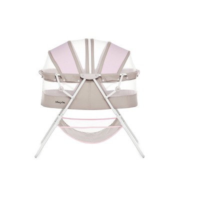 Dream On Me Karley Bassinet - Gray and Pink