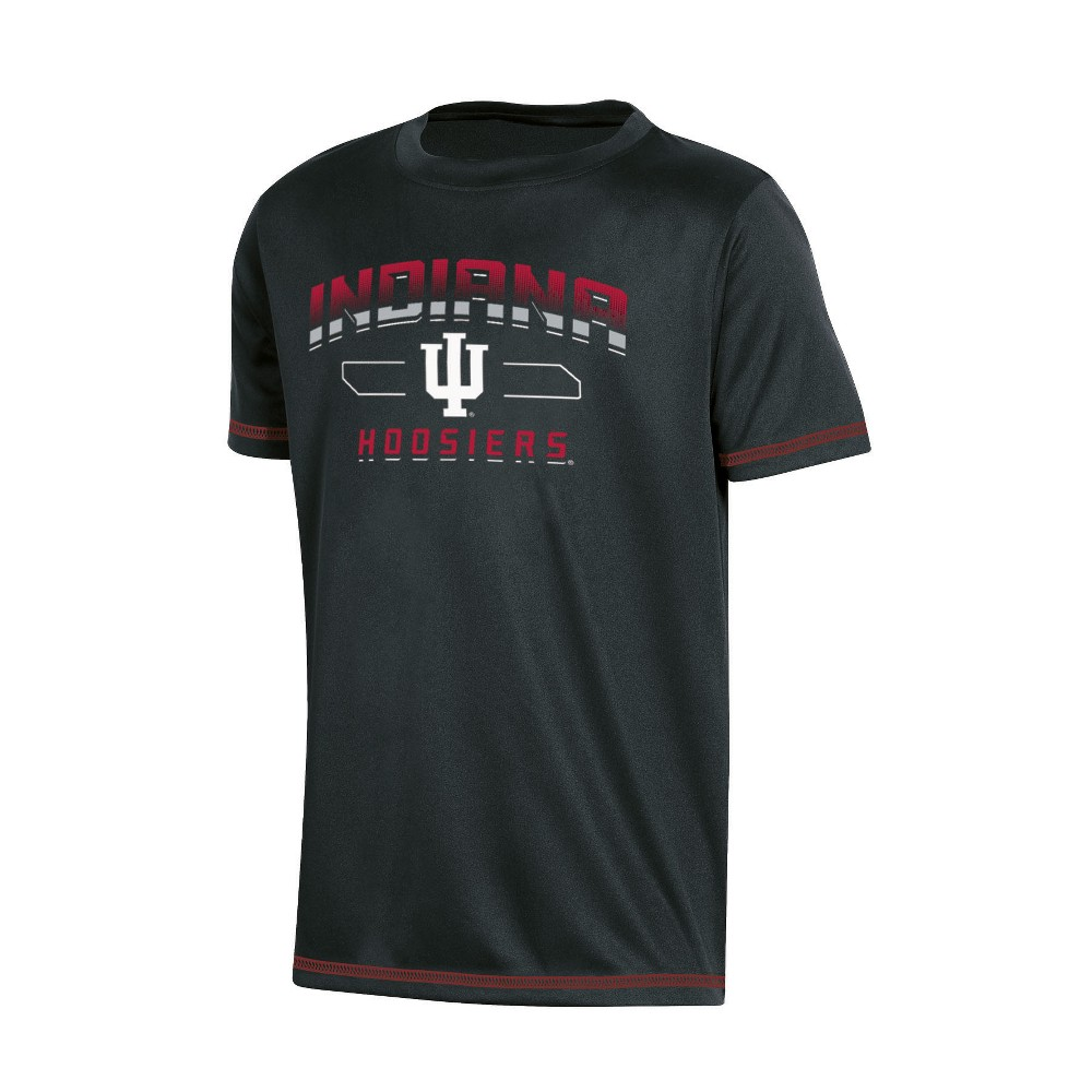 NCAA Boys' Poly T-Shirt Indiana Hoosiers - L, Multicolored