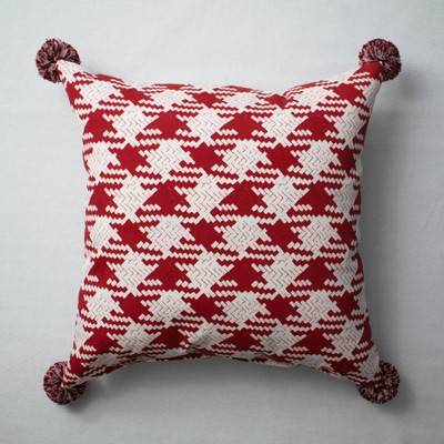 Houndstooth Throw Pillow Red - Opalhouse™