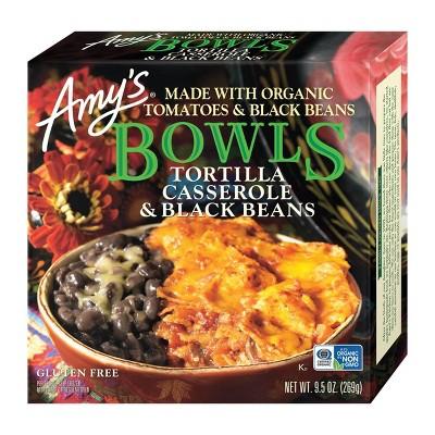 Amy's Tortilla Casserole & Black Beans Frozen Bowls - 9.5oz