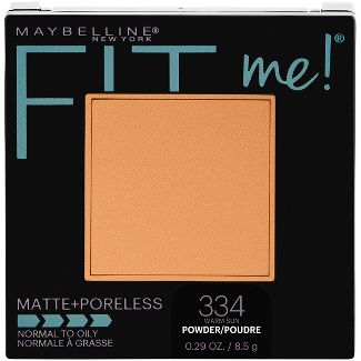 Maybelline Fit-Me Matte-Poreless Pressed Face Powder - 334 Warm Sun - 0.29oz