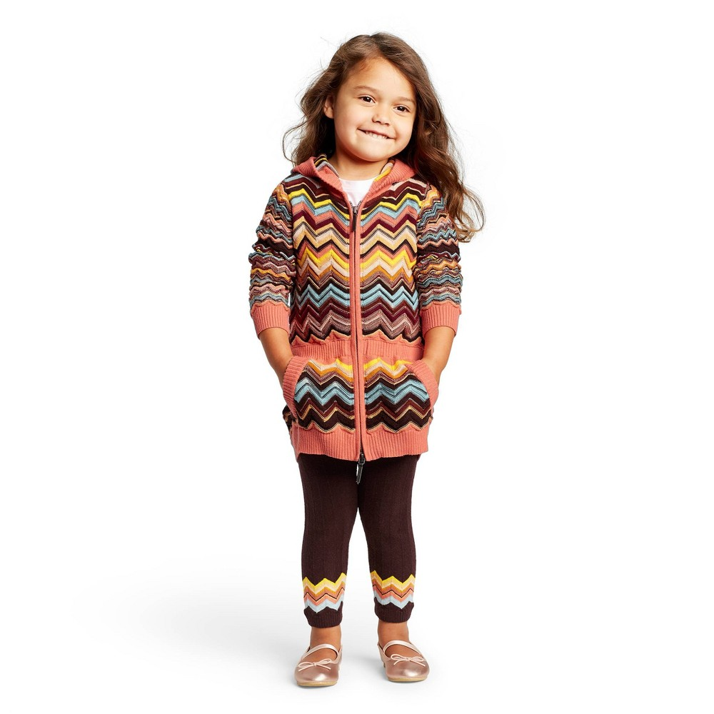 Image of Toddler Girls' Mid-Rise Sweater Leggings - Missoni for Target Brown 12M, Women's