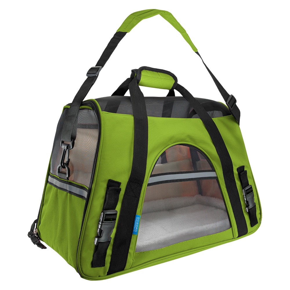 Paws & Pals Soft-Sided Pet Carrier - Lettuce - Large