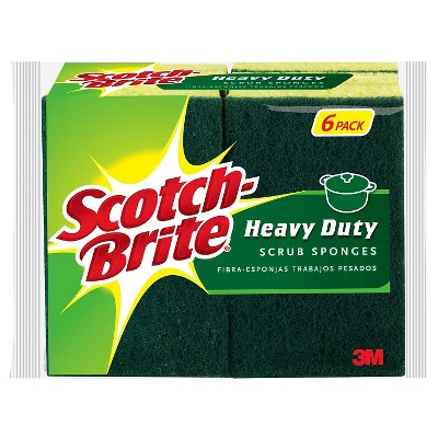 Scotch-Brite™ 6 Pk. Heavy Duty Scrub Sponge