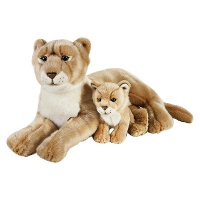Lelly National Geographic Lioness with Cub Plush Toy