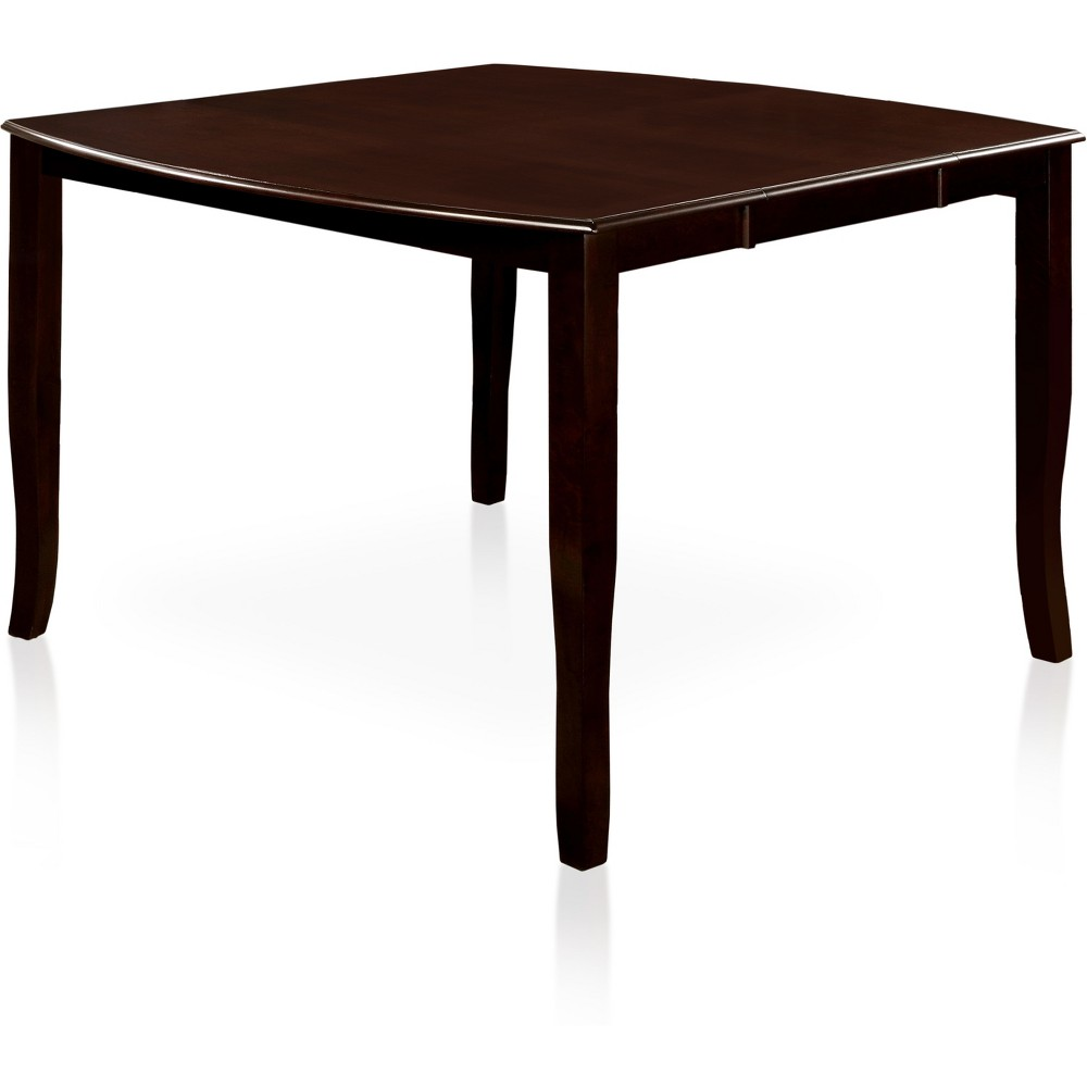 miBasics Rounded Wooden Counter Dining Table Wood/Espresso
