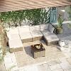 7pc Wicker Rattan Patio Set - Beige - Accent Furniture - image 2 of 4