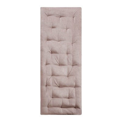 Blush Alder Chenille Lounge Floor Pillow Cushion (27 x74 )