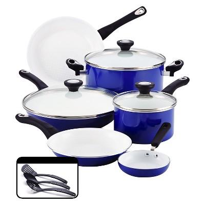 Farberware® PURECOOK(tm)Ceramic Nonstick Cookware Set - Blue(12Pc)