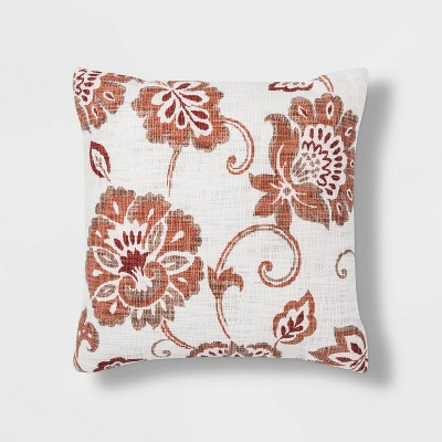 Jacobean Printed Square Throw Pillow - Threshold™